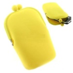 Silicone+Cell+Phone+Pouch+-+Yellow
