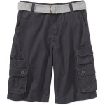 Faded Glory Boys Belted Double Cargo Shorts