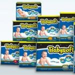 Babysoft |220 Diapers| Size 1 3-8kg |22pcs X 10bag