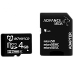 Advance 4GB Micro SDHC Memory Card - Black