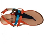 Multicolored Ladies' Flat Sandals