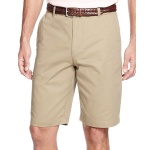 Izod Lightweight Solid Flat Front Chinos Shorts