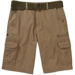 No Boundaries Big Men's Belted Twill Cargo Short Outpost Brown Colour