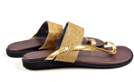 LOLLY%27S+STORE+Hand+Made+Palm+Slippers+Gold