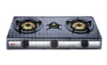 EMPIRE GADGETS Gas Stove Black 3 Burner