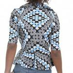 Tilda Ankara Jacket Blue