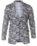 STZ‏ Fitted Smart Blazer - Black & White