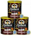 Quaker White Oats - Pack of 3 Tins