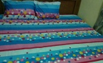 Meggie And Angels Multi-colored Patterned Bedsheet