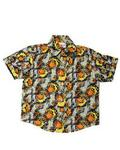 Afrikids Short Sleeves Shirt - Grey/Yellow/Orange