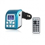 Bluetooth Car Mp3 Player & Phone Call Receiver - Blue