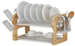 Tammie Wooden Dish Drainer Rack