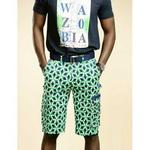 Ankara Cargo Shorts In Green