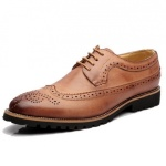 Exquisite And Classic Men's Laceup Brogue - Brown