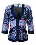 TooshMeHenri Elsie Collarless Jacket - Blue